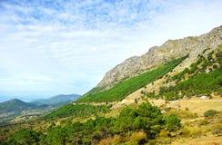 山脉de格拉萨莱马自然公园,卡迪士省,西班牙 免版税库存图片