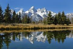 山脉teton 库存照片