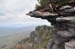 山腰峭壁和阿巴拉契亚人风景 免版税库存照片