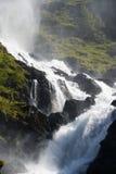 山腰瀑布 库存照片