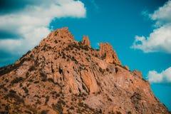 山自然保护卡拉Dag在克里米亚 免版税库存图片