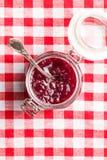 山莓果酱果冻 库存图片