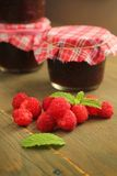 山莓果酱 库存图片