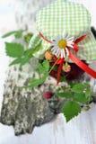 山莓果酱 免版税库存照片
