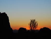 山菲尼斯日落周围的视图 免版税库存图片