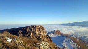 山薄雾自然 图库摄影