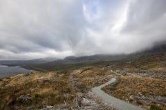 山行迹在苏格兰, Storr的老人 免版税库存图片