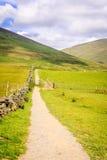 山行迹在英国的湖区 库存图片