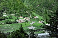 山西藏人村庄 免版税库存图片