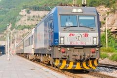 山西,中国- 2015年9月15日:中国铁路HXD3C电疯子 免版税库存照片
