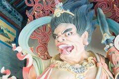 山西,中国- 2015年9月25日:在华严寺的Budda雕象 A 免版税图库摄影
