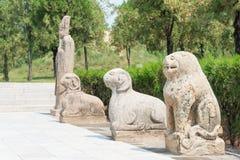 山西,中国- 2015年8月25日:在司马光临时雇员的司马光坟茔 库存照片