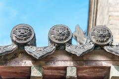 山西,中国- 2015年9月05日:在王家大院的屋顶 A 库存照片
