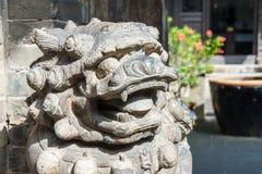 山西,中国- 2015年9月05日:在王家大院的雕象 库存图片