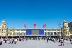 山西,中国- 2015年9月12日:太原火车站在山西 免版税图库摄影