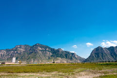 山西,中国- 2015年9月18日:Heng单 一著名historiclandsc 免版税库存图片
