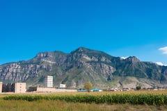山西,中国- 2015年9月18日:Heng单 一著名historiclandsc 免版税库存照片