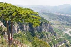 山西,中国- 2015年9月19日:Heng单 在H的一个著名风景 免版税图库摄影
