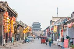 山西,中国- 2015年9月03日:Pi古城早晨视图  库存照片