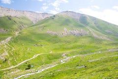 山谷和峰顶的看法 库存图片