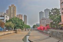 山贝河元朗在香港 免版税库存照片