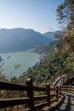 山走廊的夷陵长江三峡Dengying峡谷 免版税库存照片