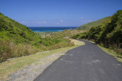 山路向海洋 库存图片