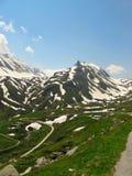 山路在瑞士阿尔卑斯 图库摄影