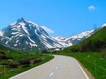 山路在瑞士阿尔卑斯 库存图片