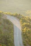 山路在蒙特内哥罗 库存图片
