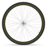 登山车轮子 免版税图库摄影