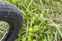 登山车轮胎 免版税库存照片
