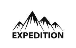 山远征商标元素剪影 向量例证