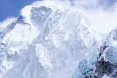 山远景,尼泊尔,珠穆琅玛, 19000ft+ 免版税库存照片