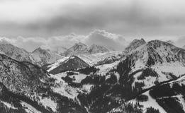 山雪冬天 滑雪胜地韦斯滕多尔夫 蒂罗尔, Aus 免版税库存照片