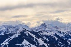 山雪冬天 滑雪胜地Hopfgarten,蒂罗尔,澳大利亚 库存照片