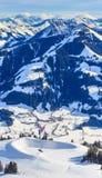 山雪冬天 滑雪resor布雷萨诺内im Thalef 蒂罗尔 库存图片