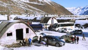 山雪和风景n智利 免版税库存图片
