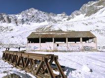 山雪和风景n智利 免版税图库摄影