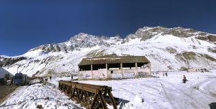 山雪和风景n智利 免版税库存照片