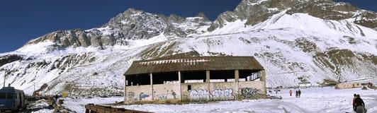 山雪和风景n智利 图库摄影