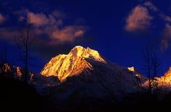 山雪西藏 库存图片