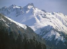 山雪 免版税库存照片