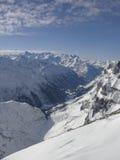 山雪titlis顶层 库存照片