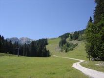 山顶在奥地利 免版税库存图片