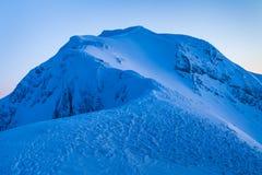 山顶层在冬天 免版税库存照片