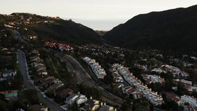 山顶的空中英尺长度在洛杉矶加州 影视素材