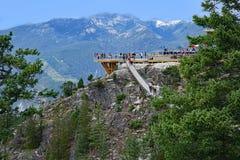 山顶面观察平台在不列颠哥伦比亚省 库存照片
