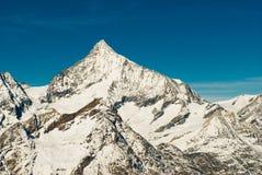 山顶weisshorn 库存图片