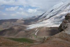 山风景。世界屋脊 免版税库存图片